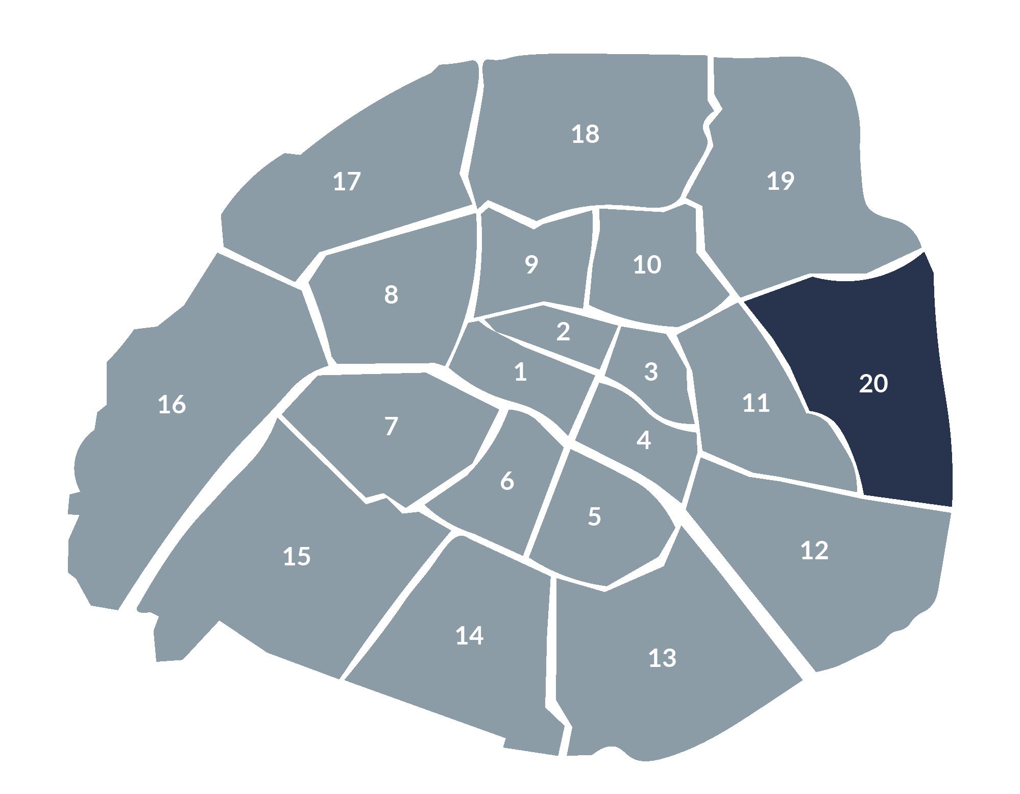 carte paris 20e arrondissement