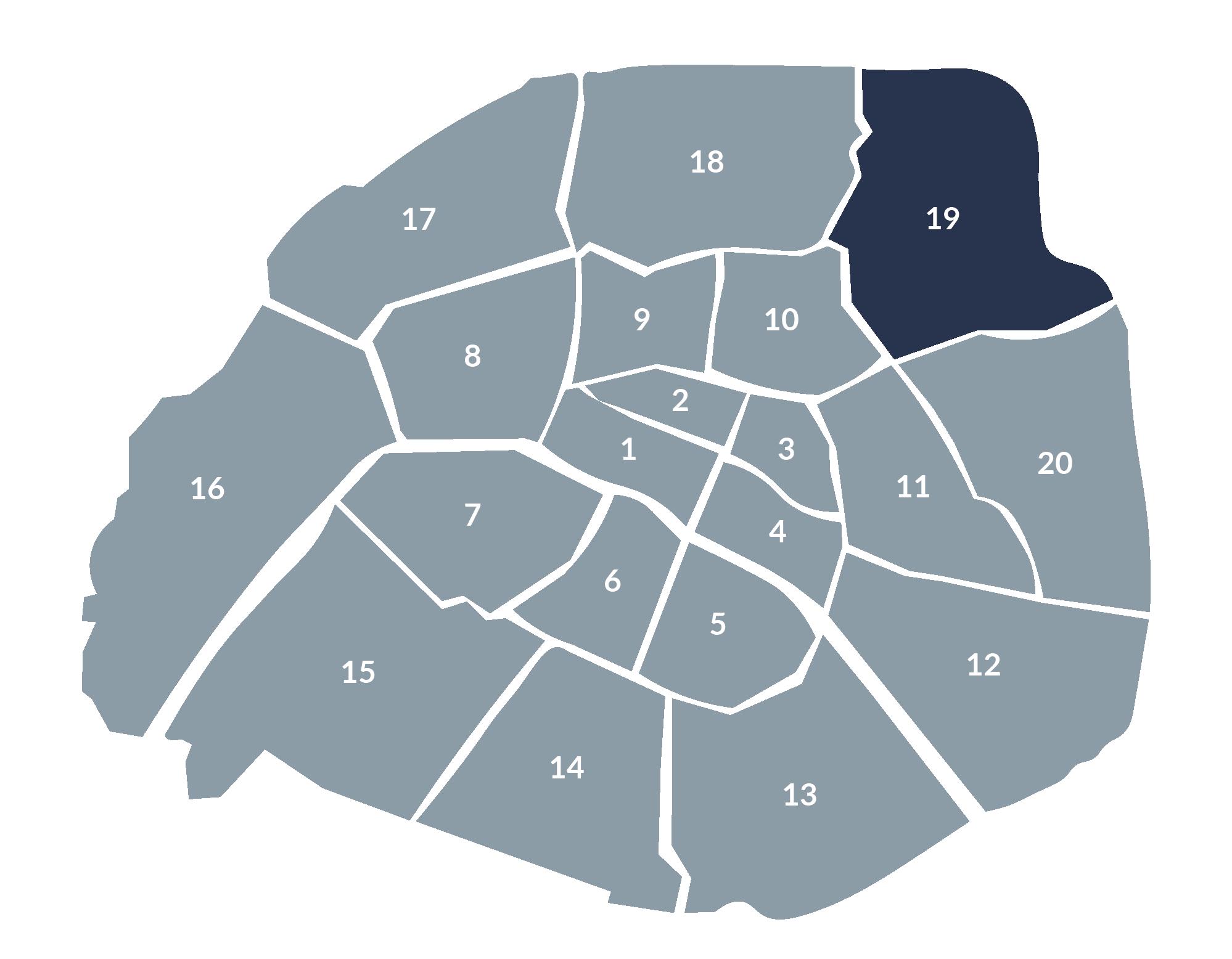 carte paris 19e arrondissement