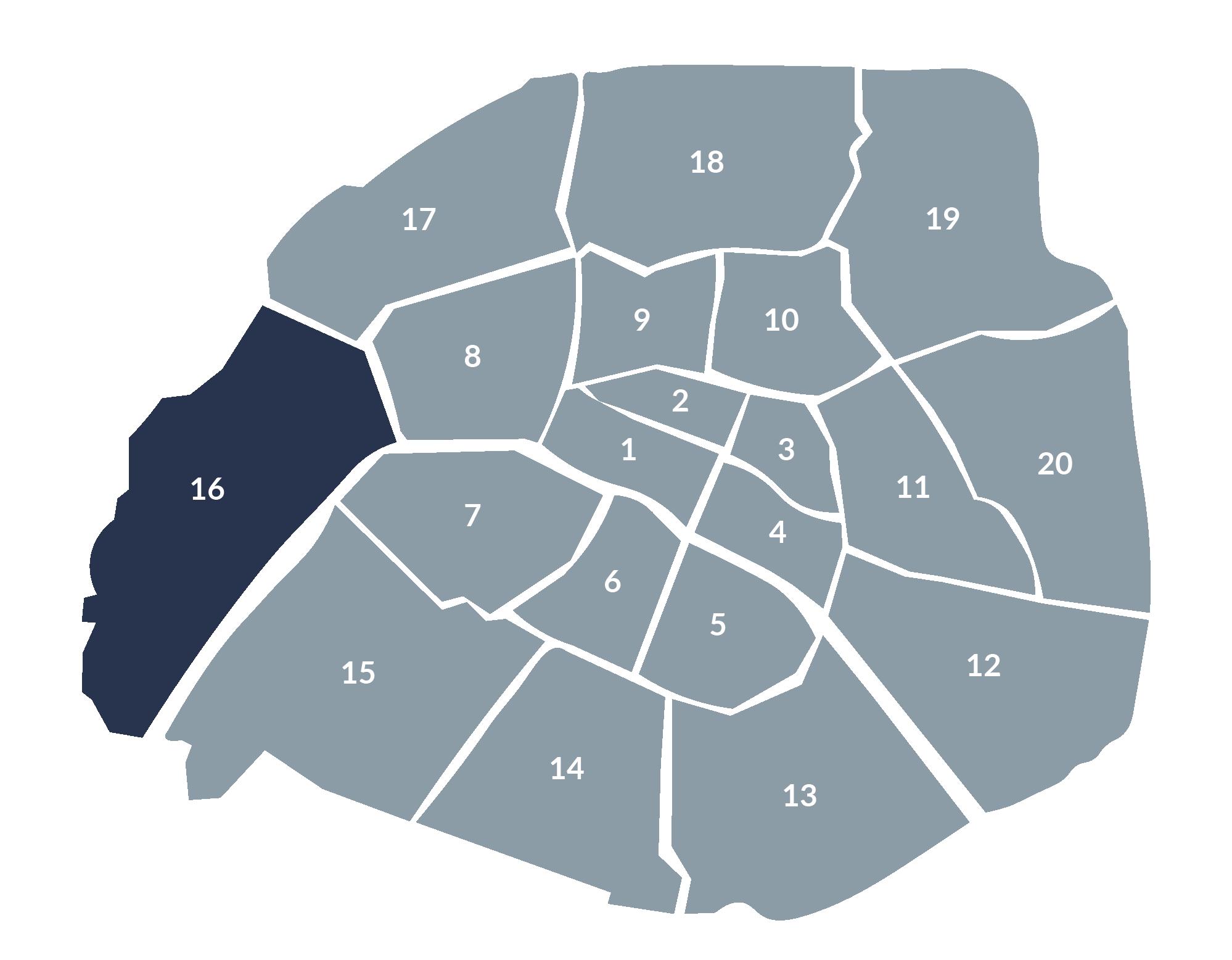 carte paris 16e arrondissement