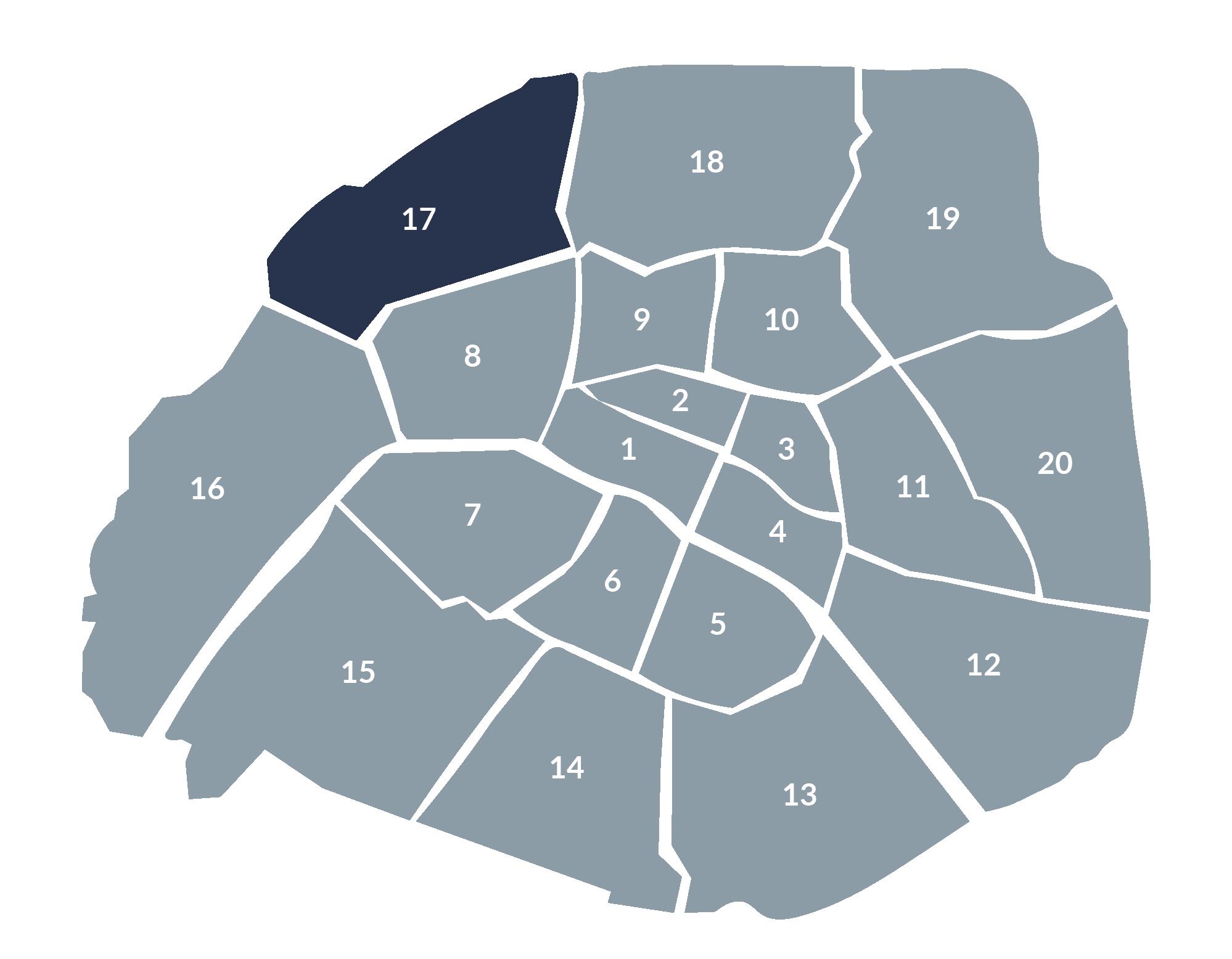 carte paris 17e arrondissement