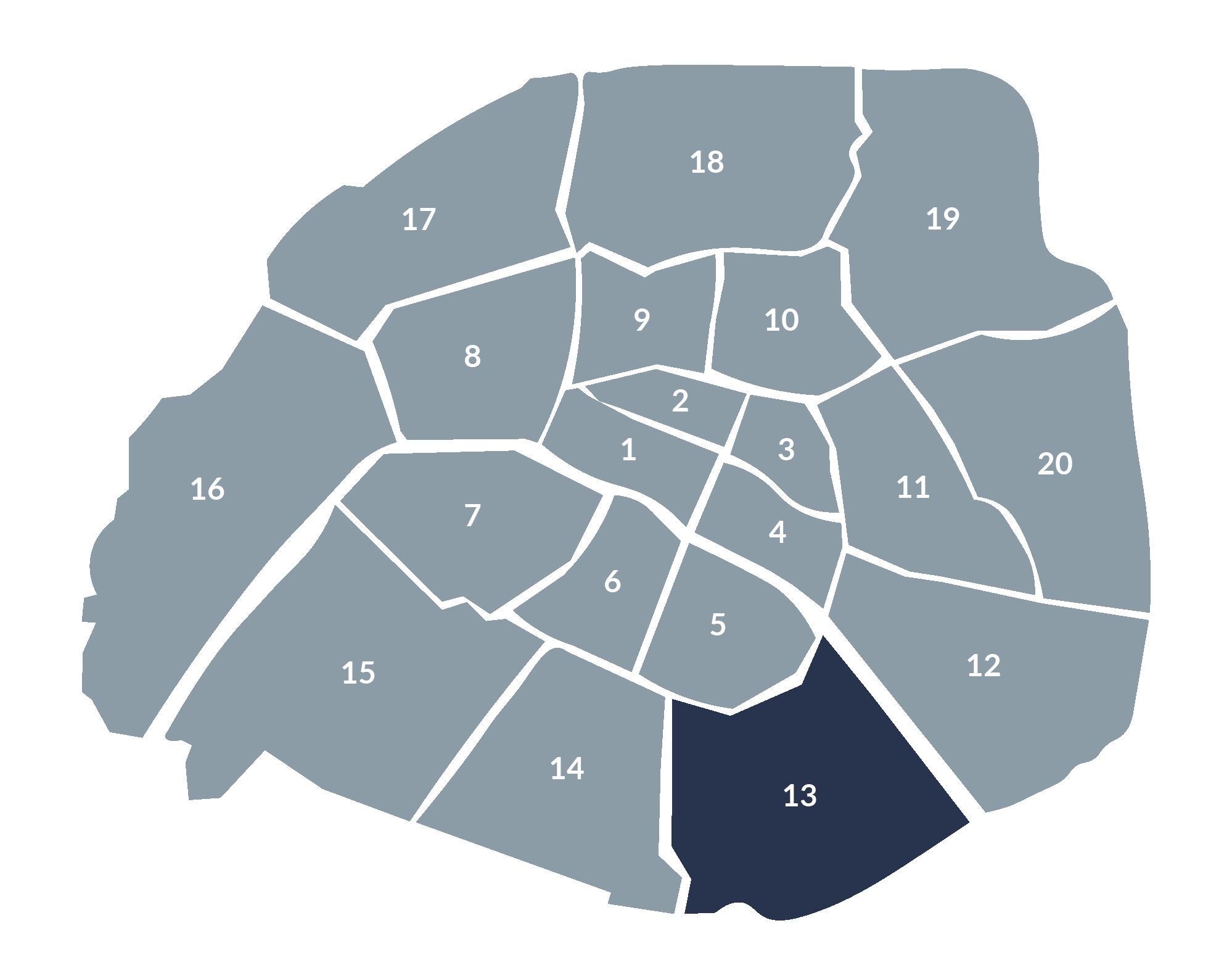 carte paris 13e arrondissement