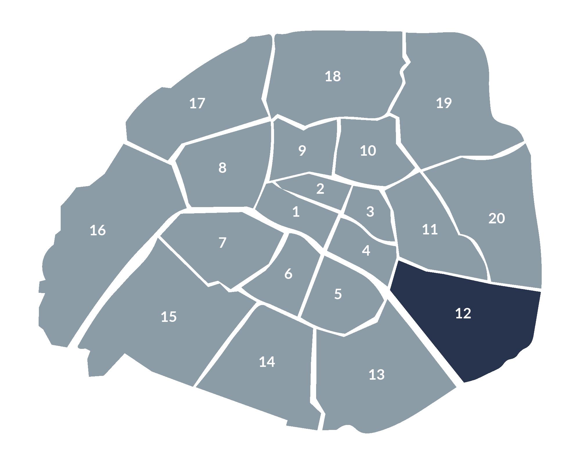 carte paris 12e arrondissement