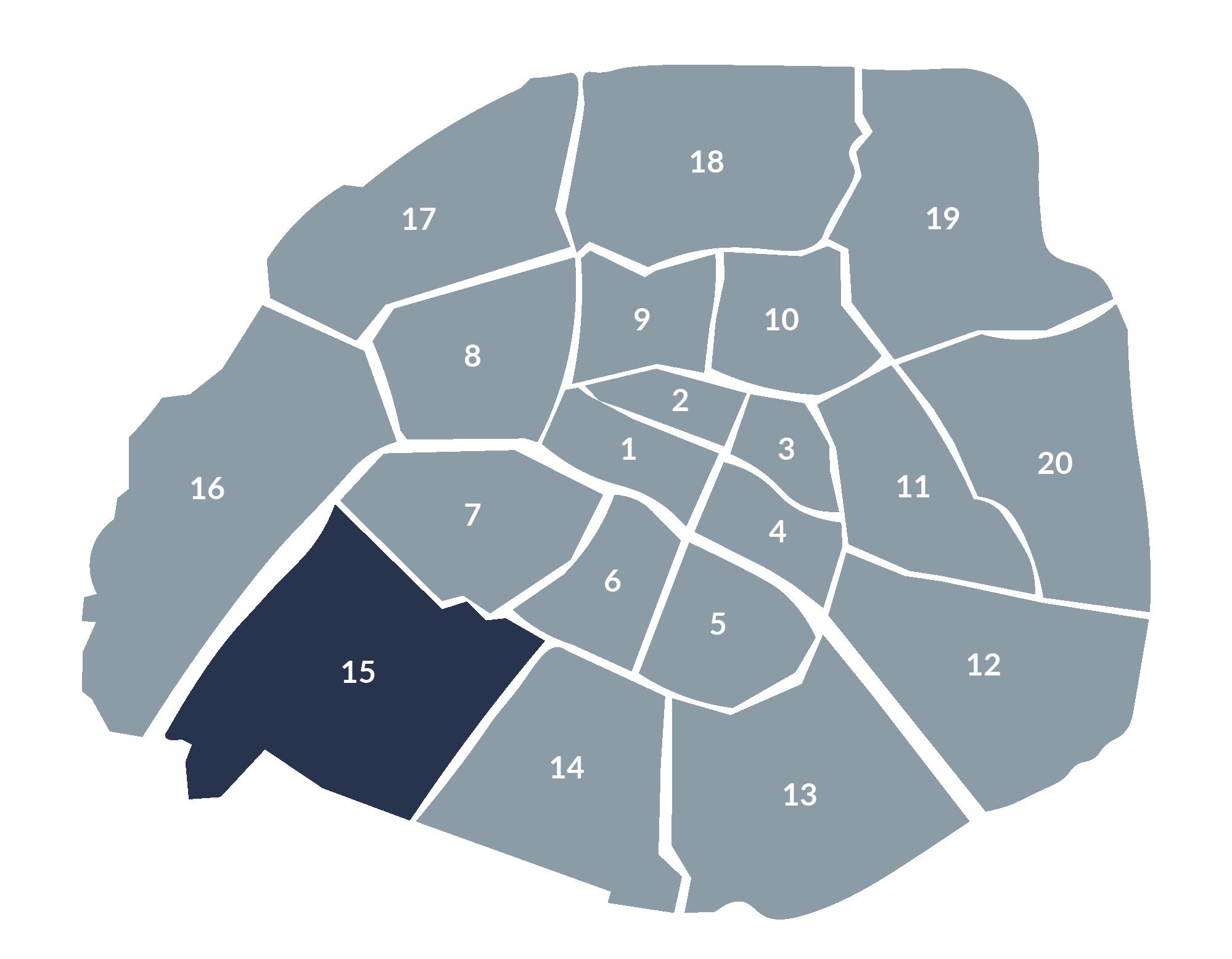 carte paris 15e arrondissement