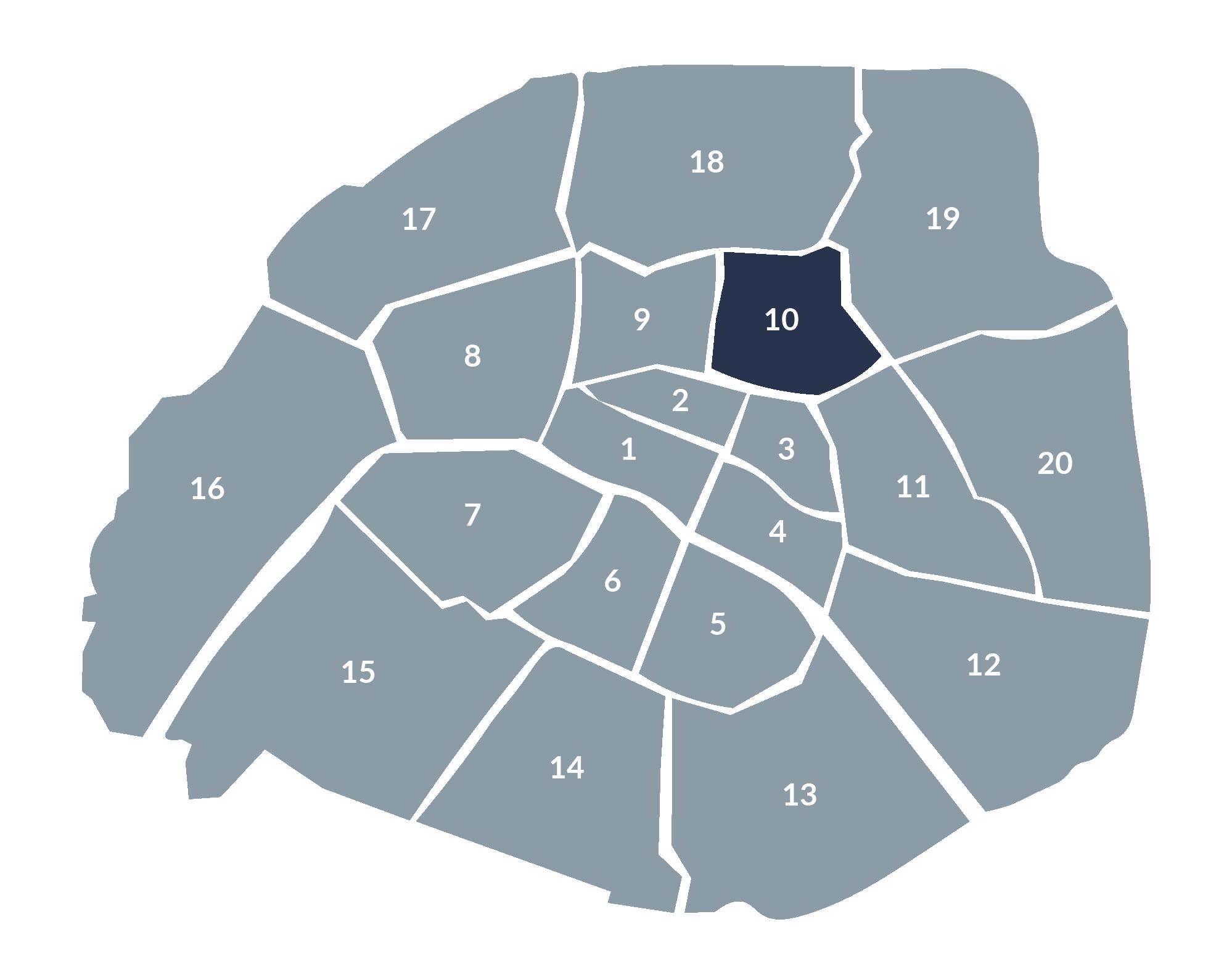 carte paris 10e arrondissement