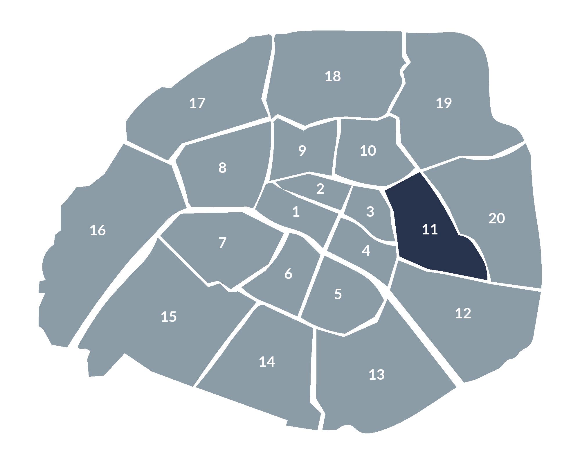 carte paris 11e arrondissement
