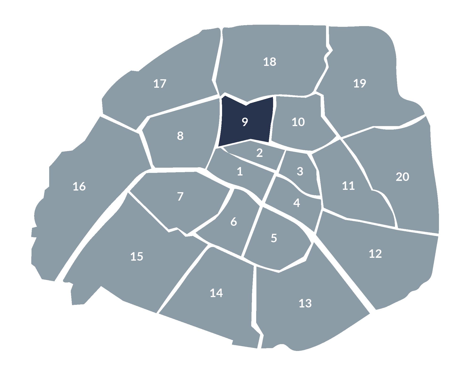 carte paris 9e arrondissement