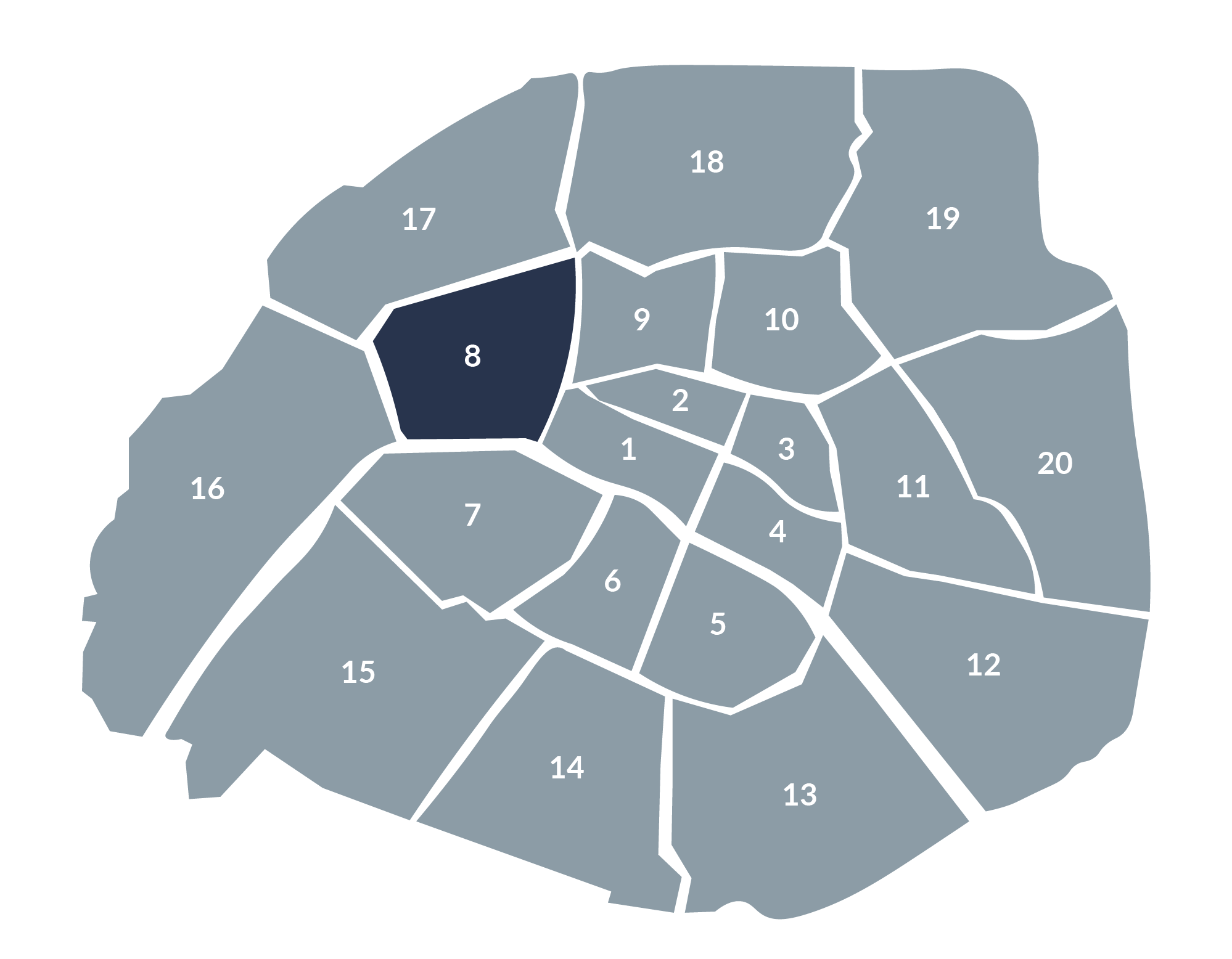 carte paris 8e arrondissement