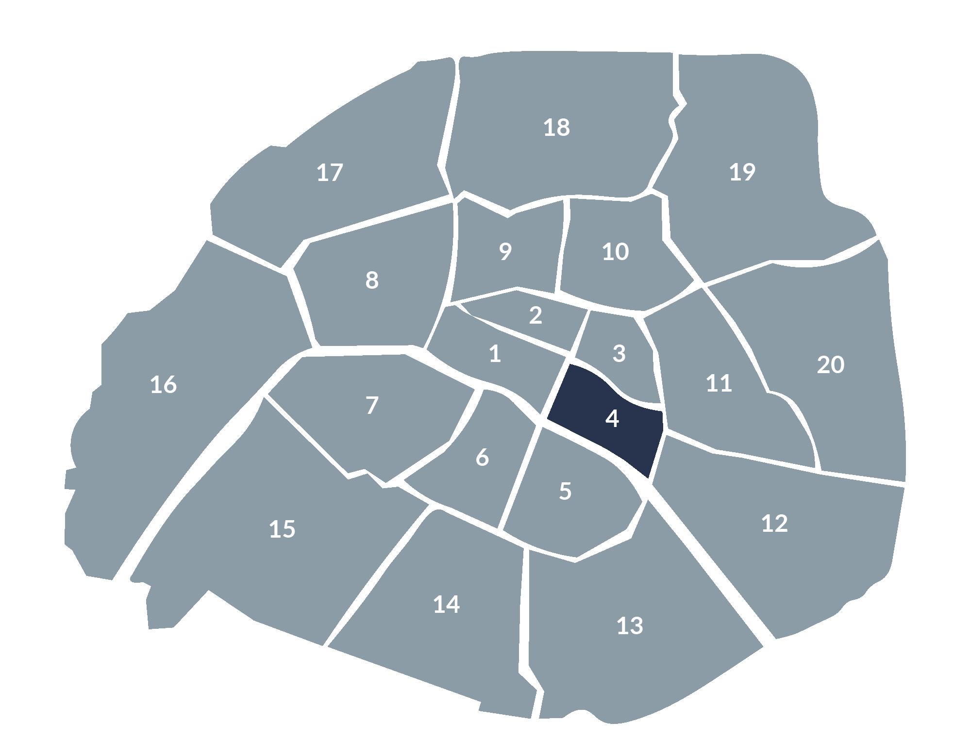 carte paris 4e arrondissement