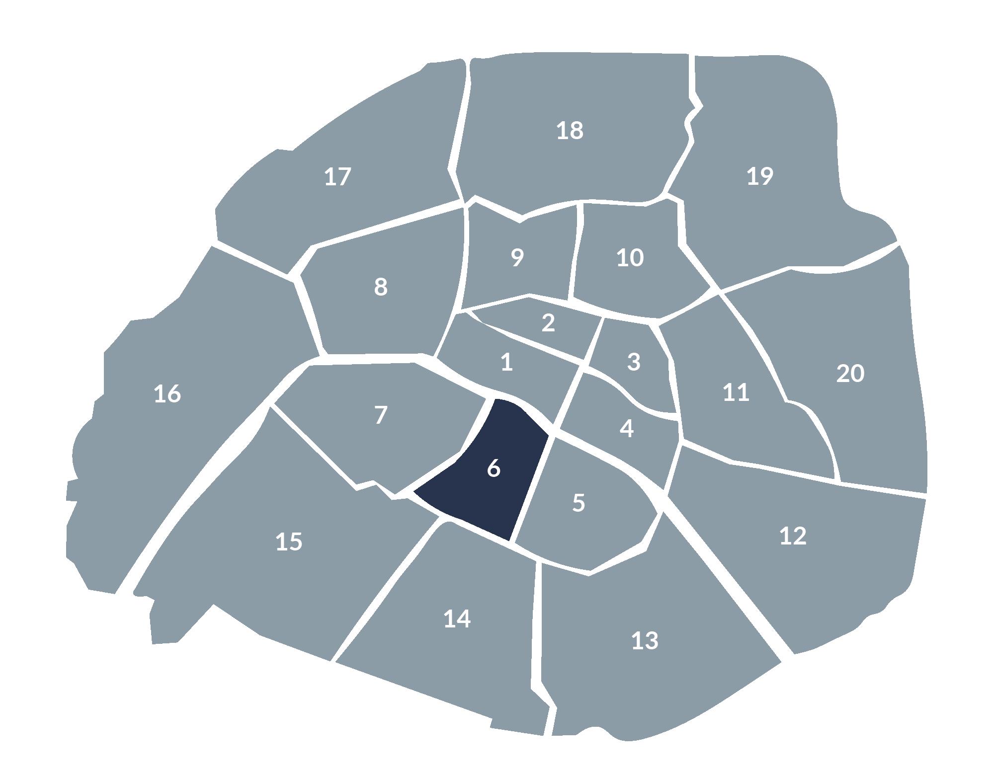 carte paris 6e arrondissement