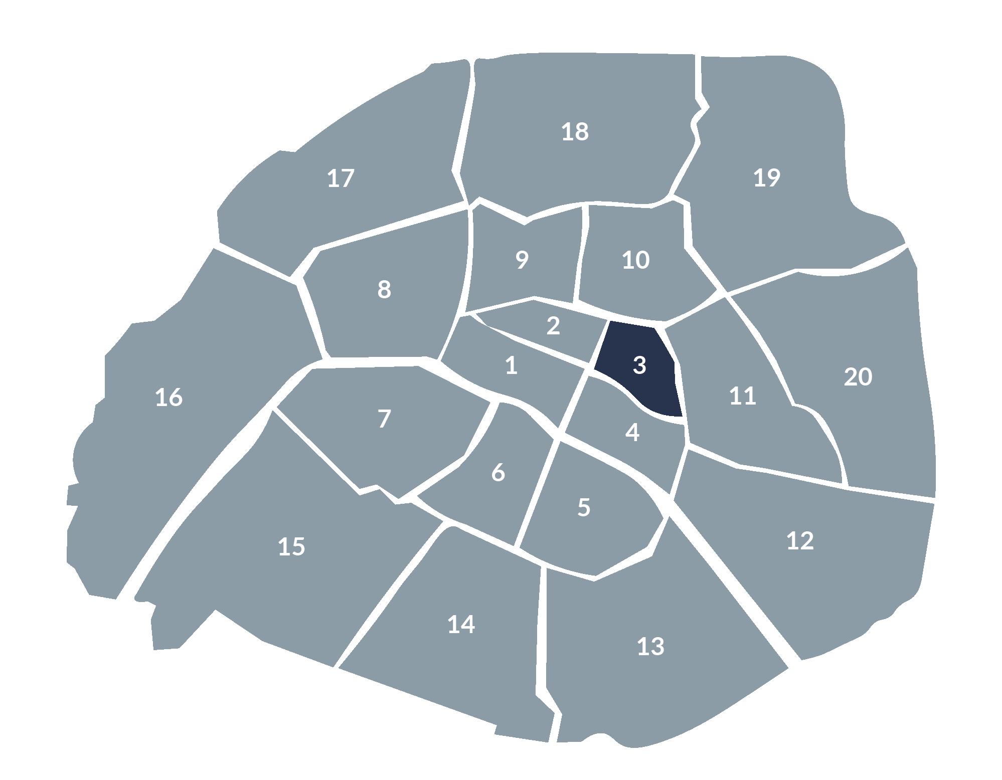carte paris 3e arrondissement