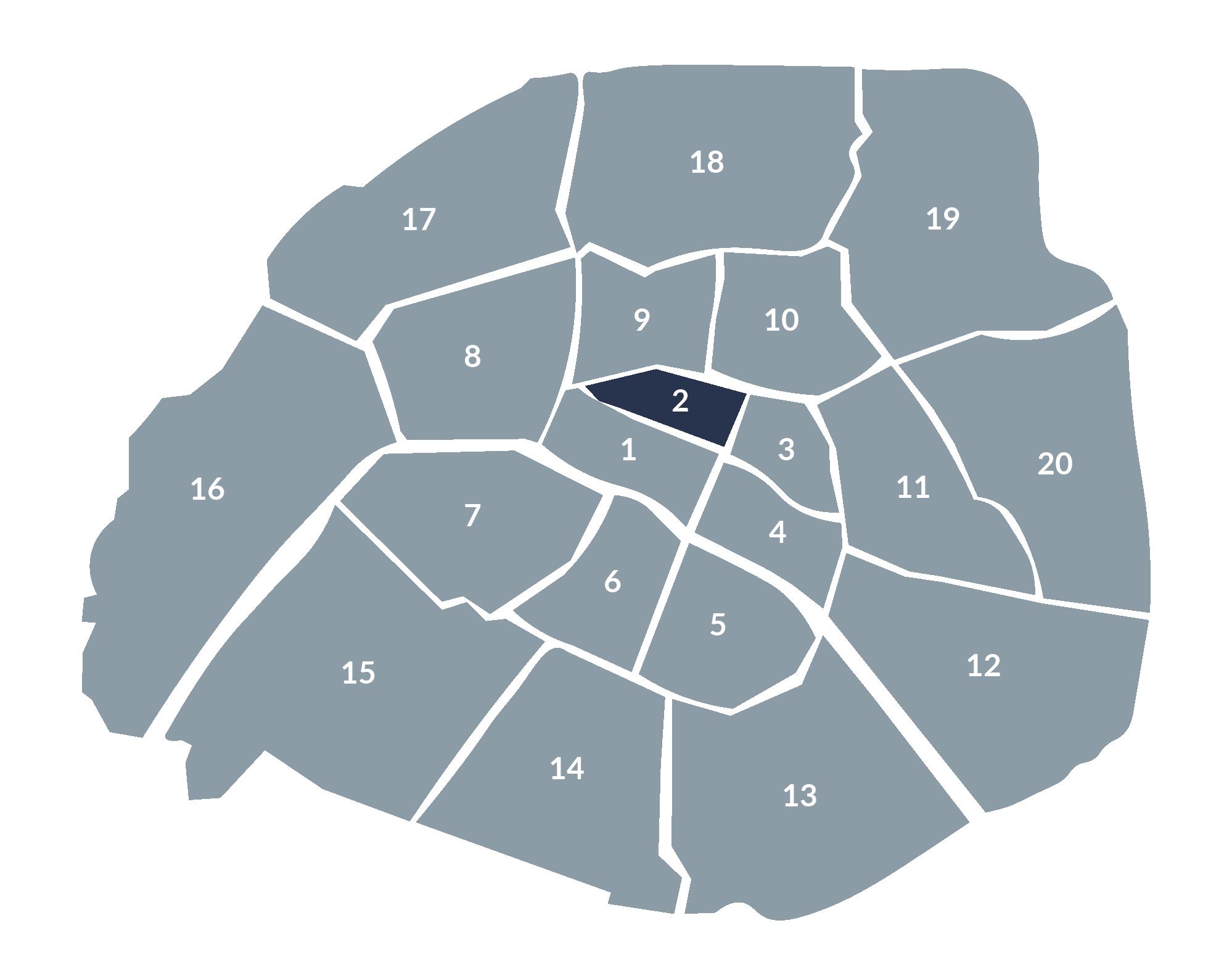 carte paris 2e arrondissement
