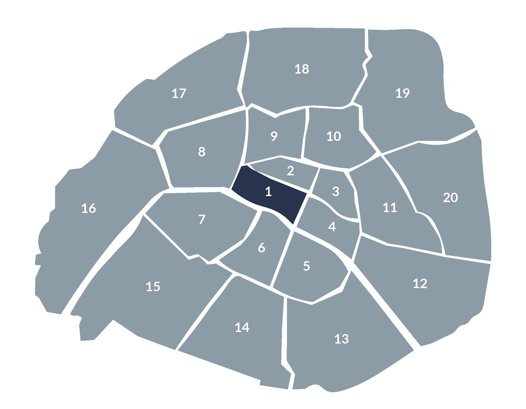 carte paris 1e arrondissement