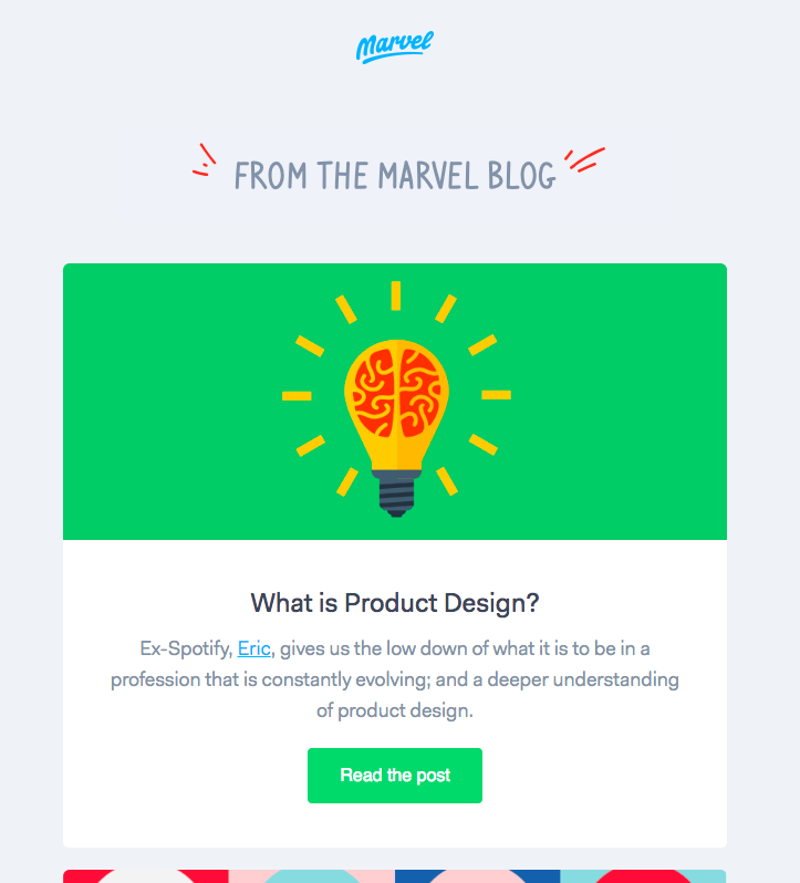best newsletters design marvel