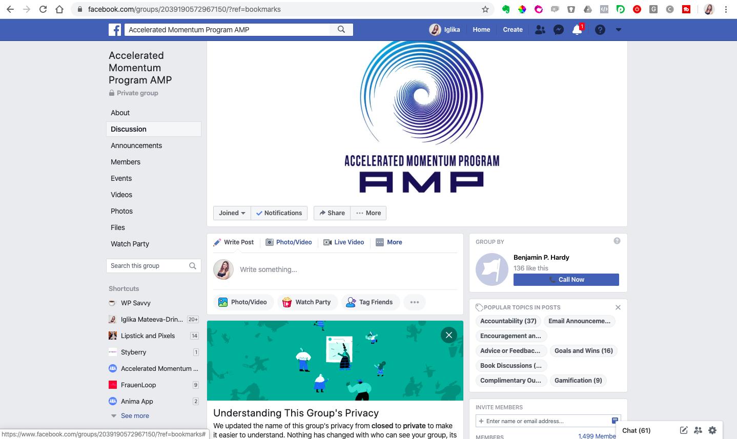 AMP review benjamin hardy-facebook group