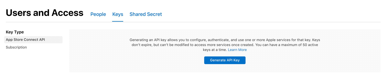 generate API key