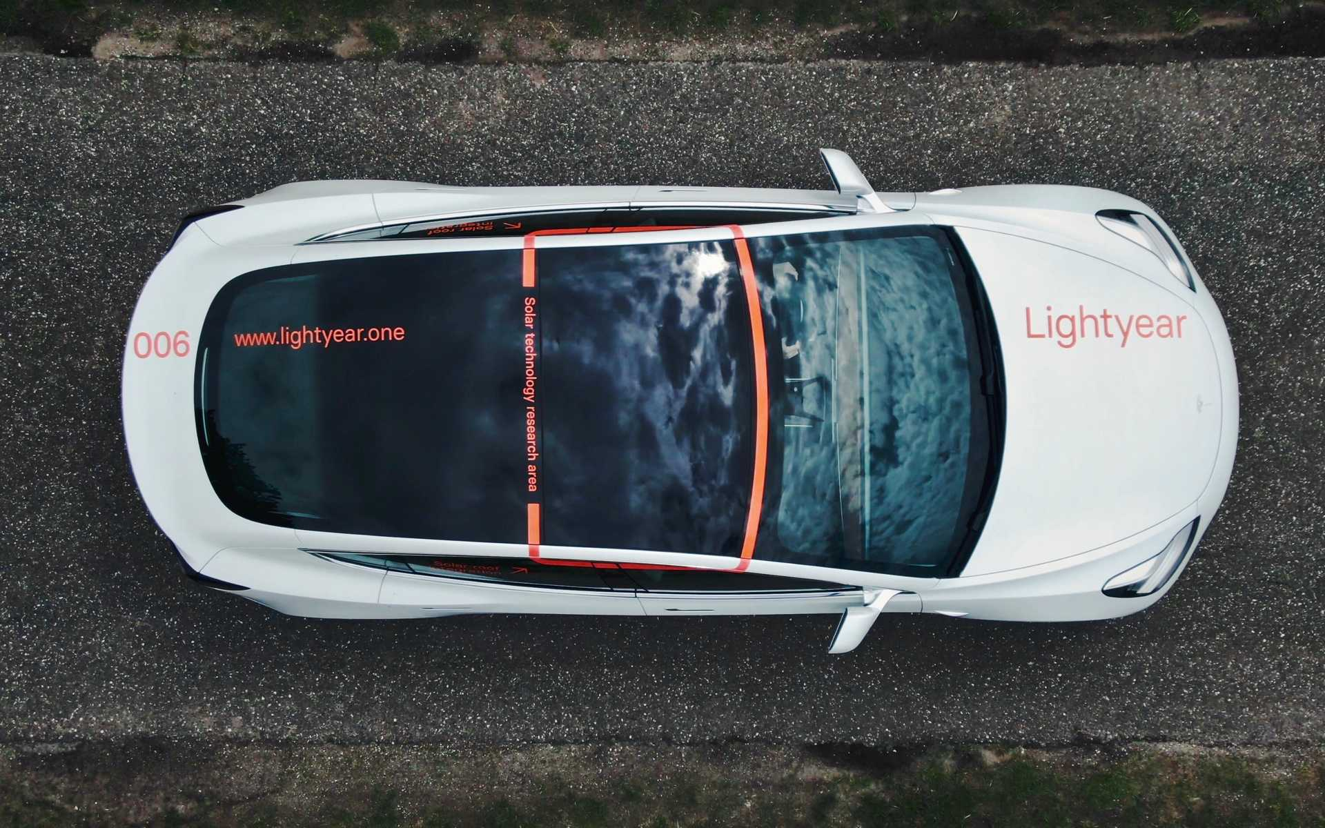Tesla with solar powered roof