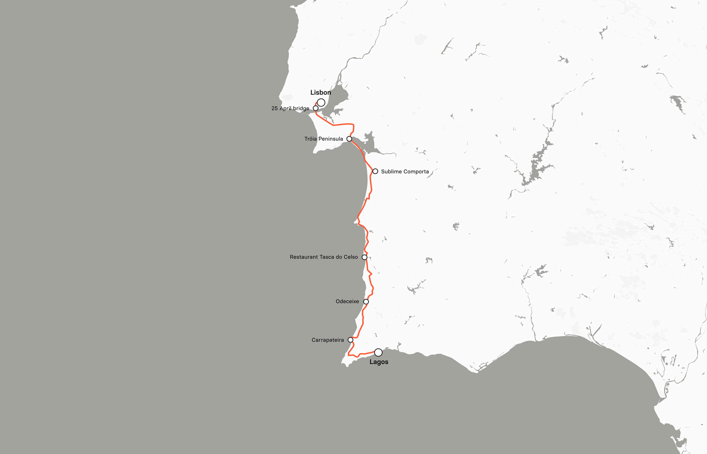 The Atlantic coast of Portugal