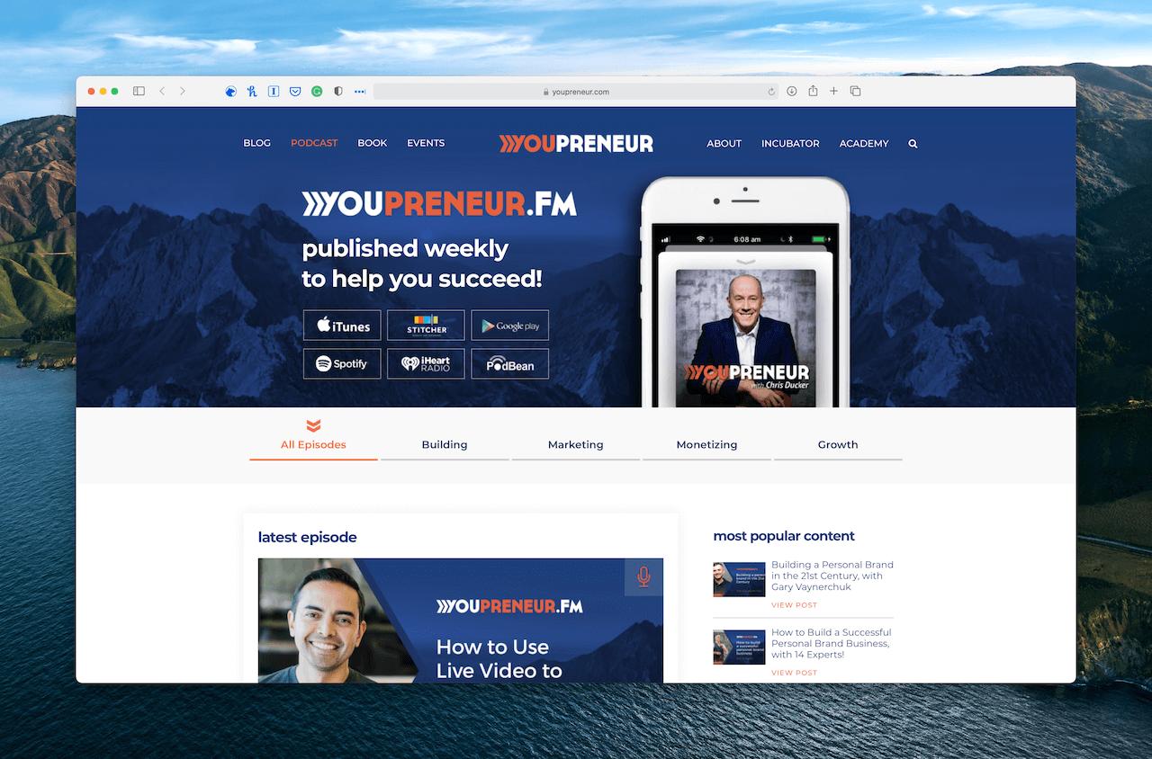 Chris Ducker podcast Youprener.fm