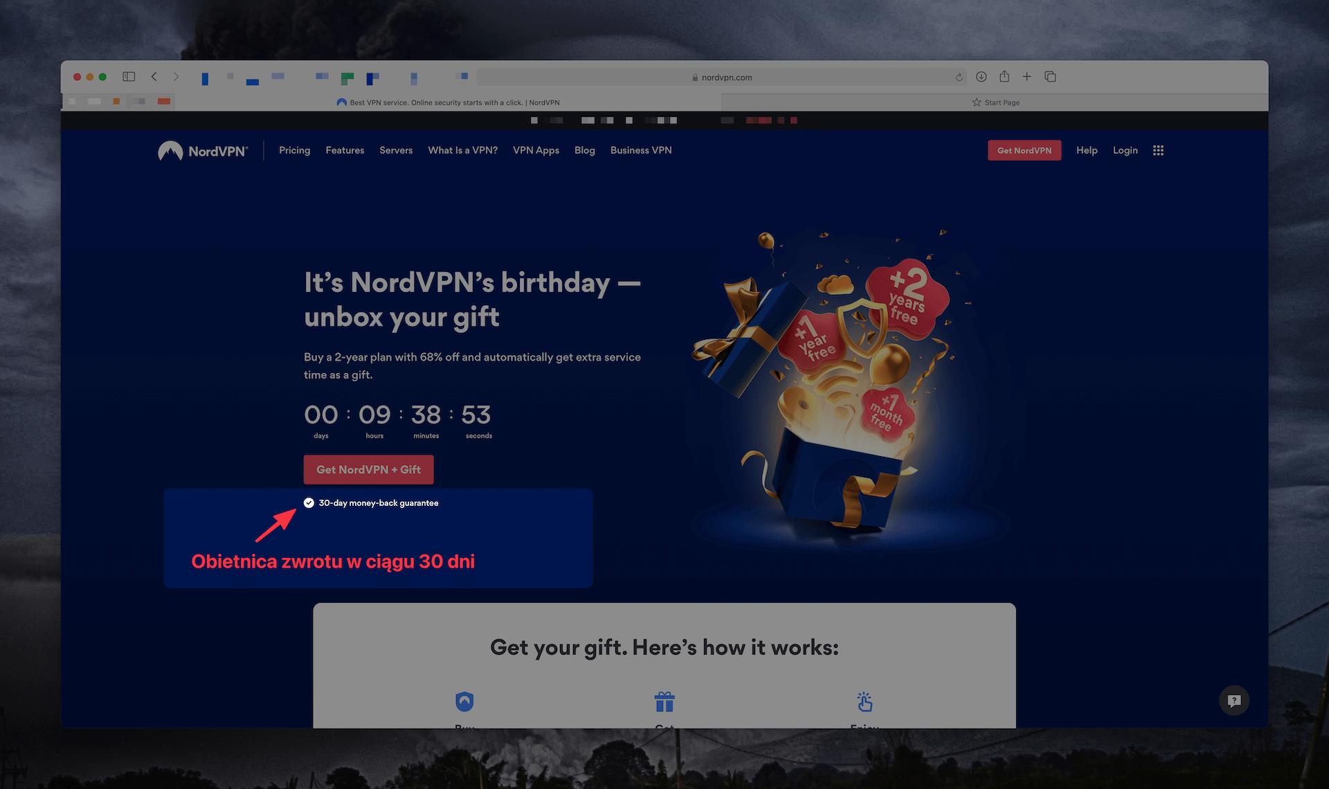 NordVPN obiecuje zwrot pieniędzy w ciągu 30 dni