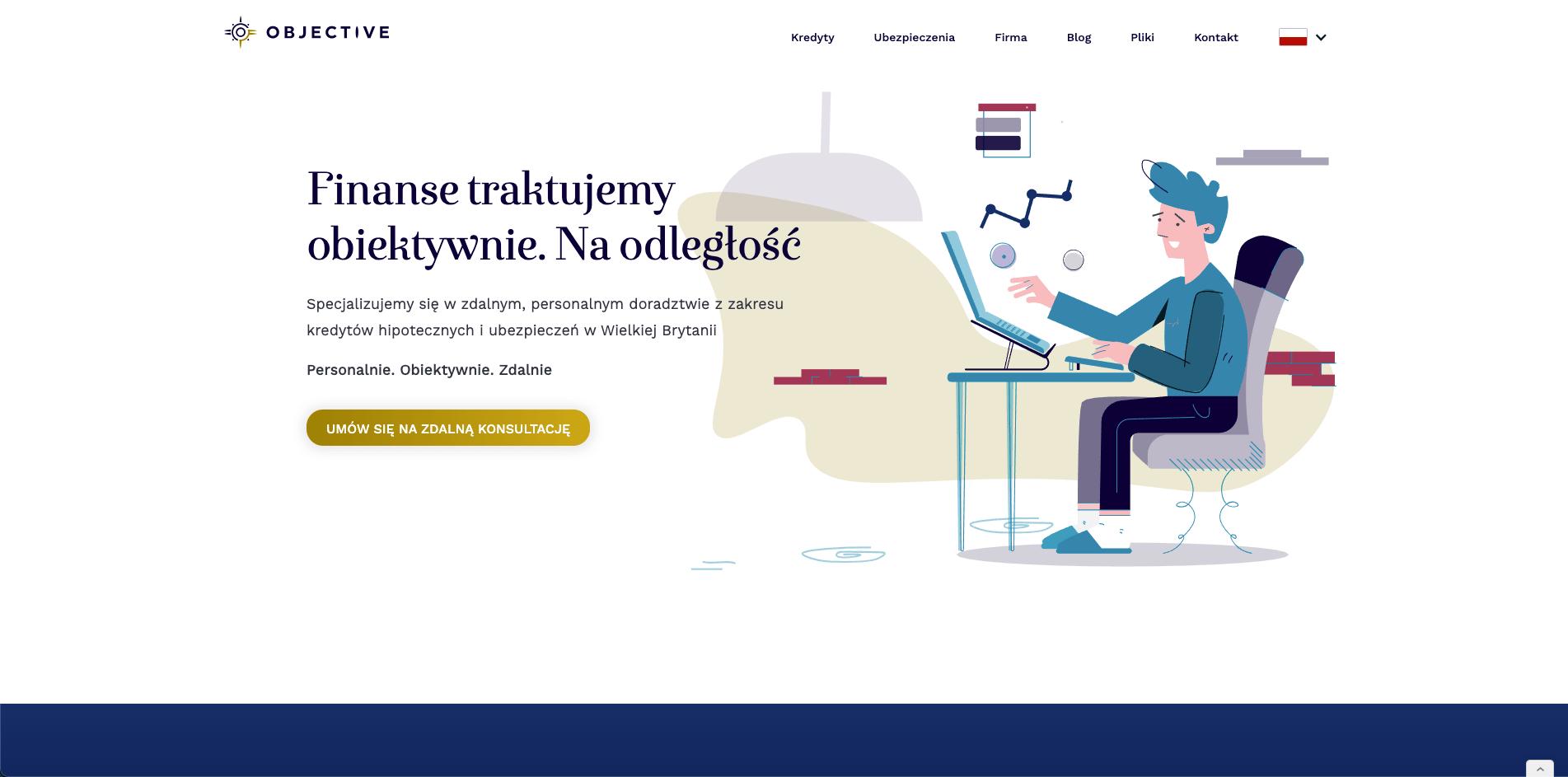 Objective Finance nowa strona zaprojektowana przez Piotra Stasiaka pbstasiak.com