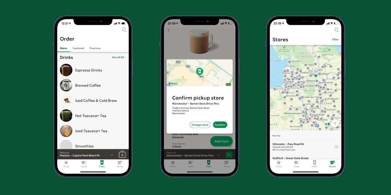 aplikacja mobilna starbucks