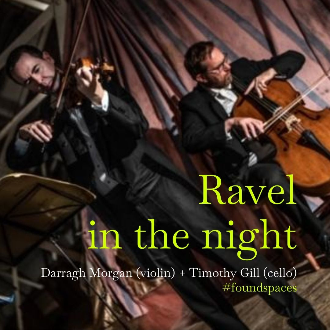 Join us in a dreamworld of mechanical toys and night-time antics in this unusual performance of Ravel's Sonata for Violin and Cello. Played by Darragh Morgan and Timothy Gill.