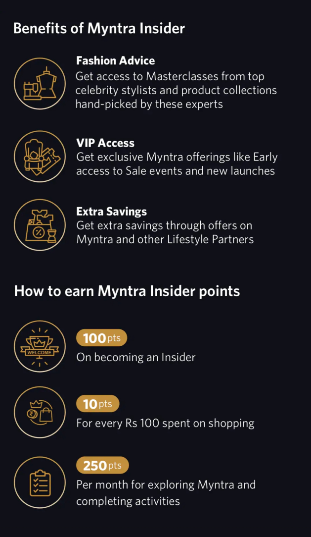 Myntra's VIP experience for followers