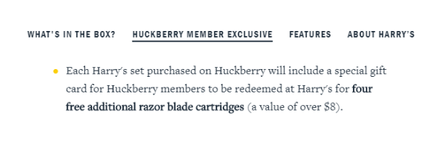 Huckberry Exclusive offers for the members