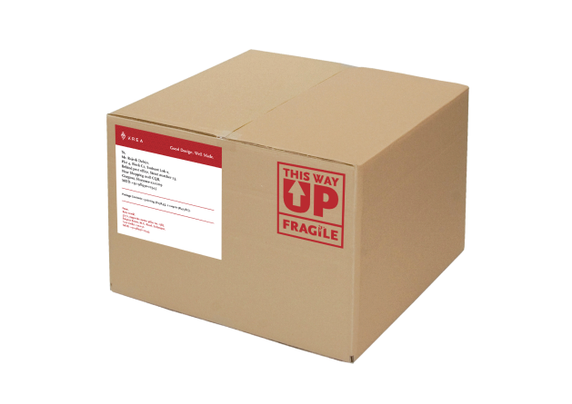 Box with shipping label