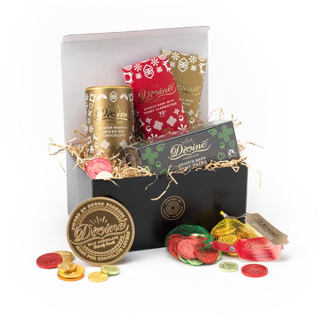 Divine chocolates product unboxing