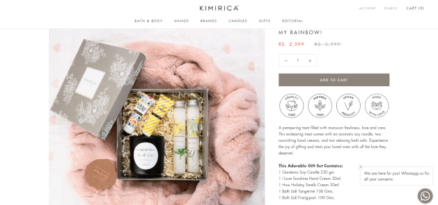 Kimirica boasts an adorable pre-kit gifting option as a reasonable value deal enabled by product kitting