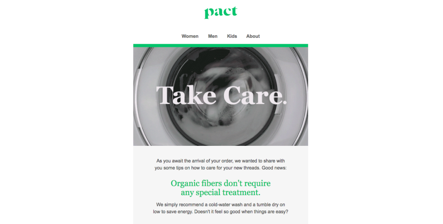 Pact shares product care tips