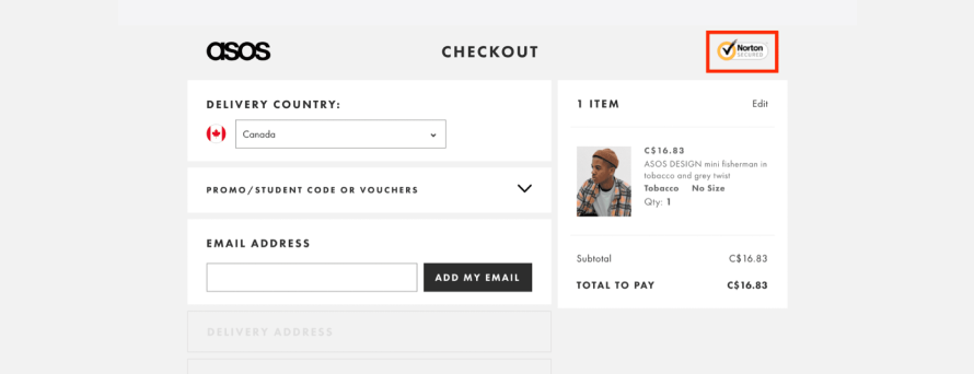 Asos builds trust with secure payments