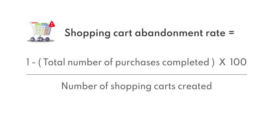 Shopping cart abandonment rate formula