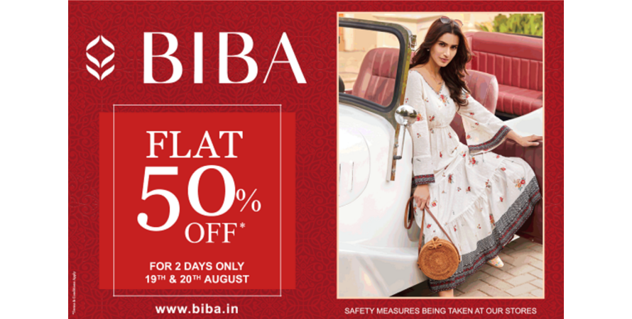 Biba, a premium ethnic wear brand, running a mid season sale to clear out its stock