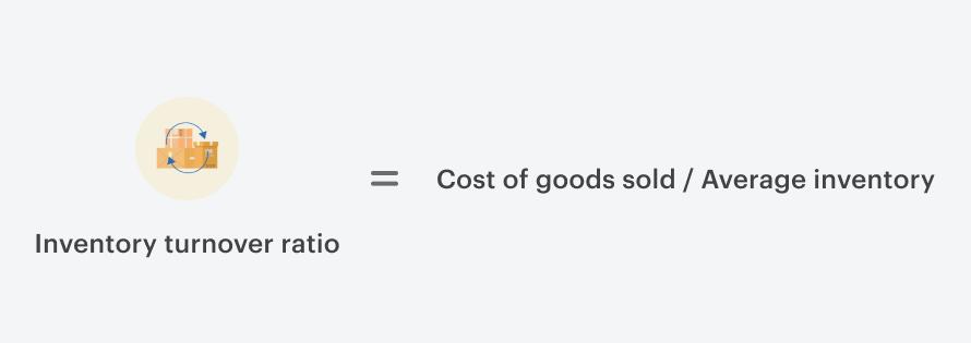 Inventory turnover ratio formula