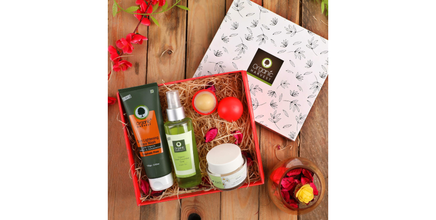 Organic Harvest's branded packaging creates a distinctive brand identity