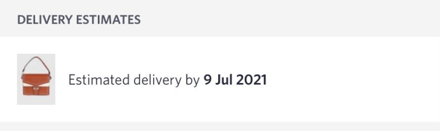 Myntra provides delivery estimates
