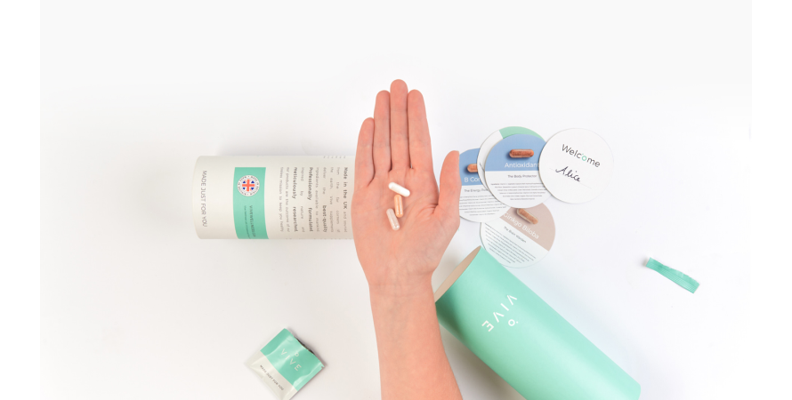 VIVE Wellness, a supplements brand boasting how their customers love the unboxing experience created by them