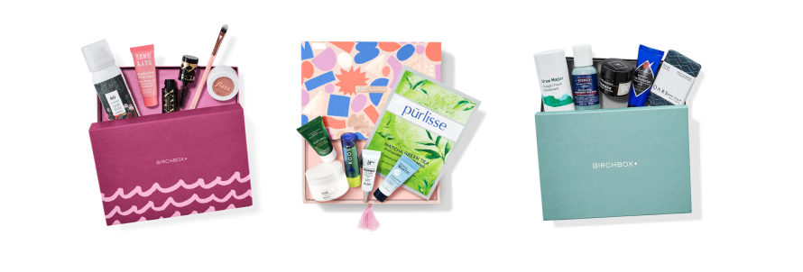 Birchbox with its broad range of monthly subscription boxes