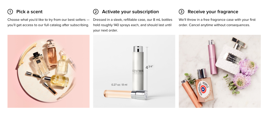 Scentbird and its plethora of monthly subscription of premium fragrances