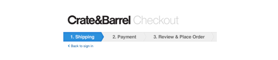 Crate & Barrel's fast checkout process