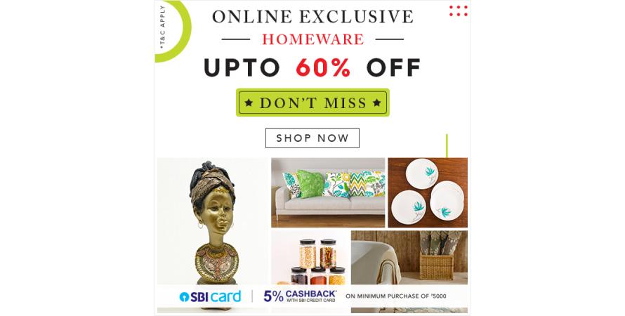 Flash sale on Home centre
