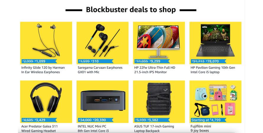 Brands participating in Amazon's blockbuster deals