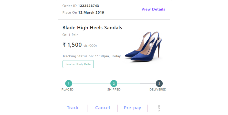 Real-time order tracking