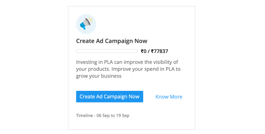 PLA ad campaign on Flipkart