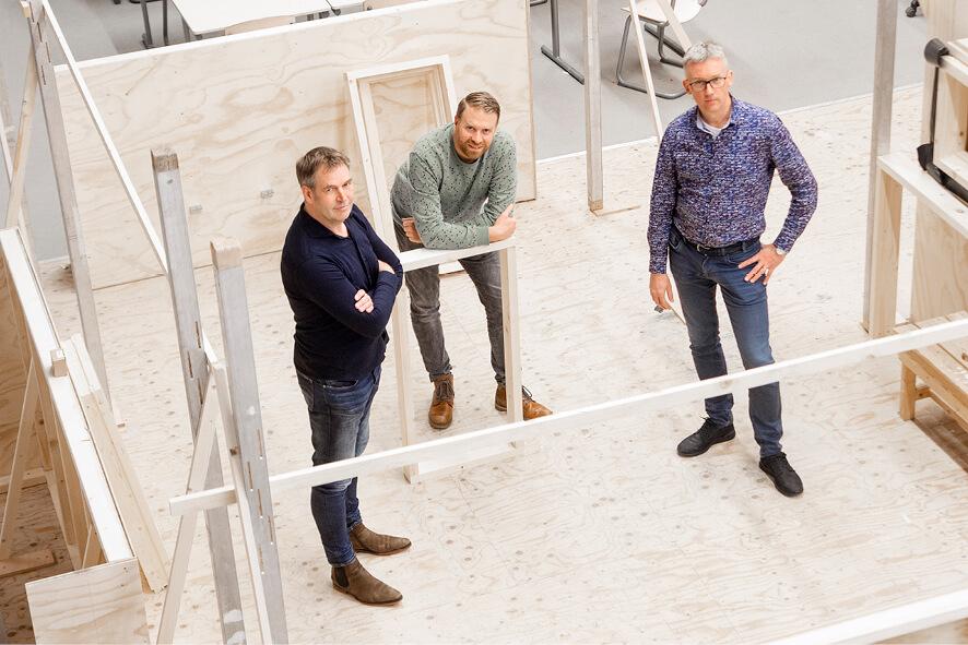 Eric Raanhuis, Simon Damink en Herman Scholten