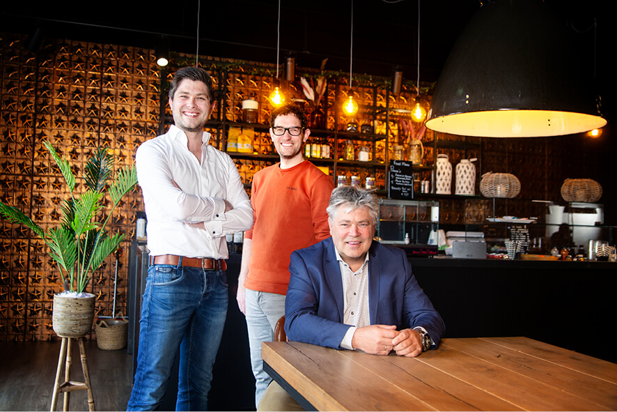 Mark Plattje, Daan Kortenhorst en Hendri Plattje