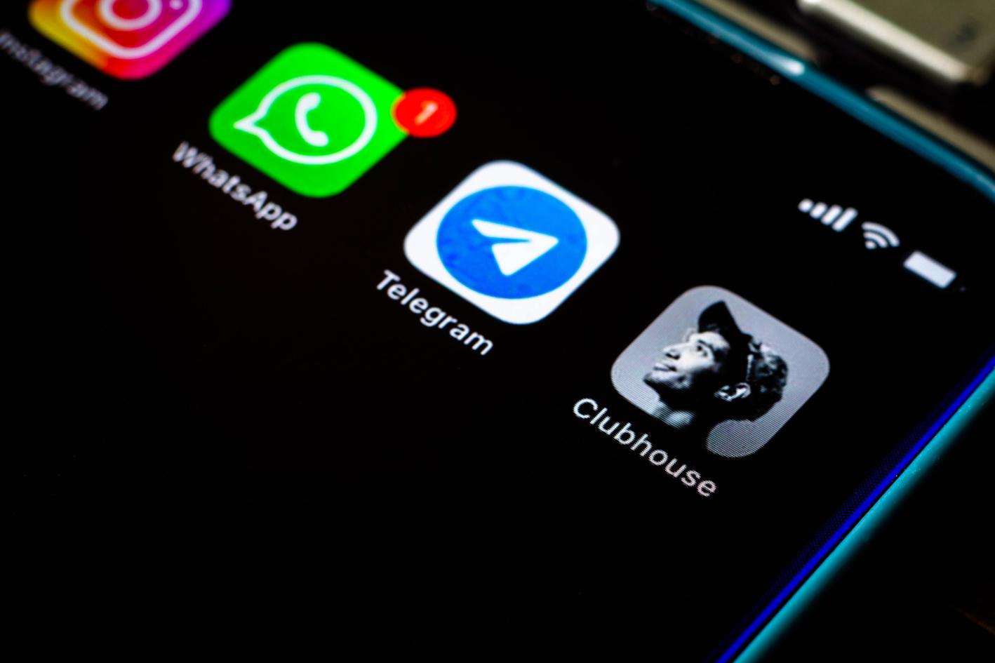 Clubhouse applicatie op iphone