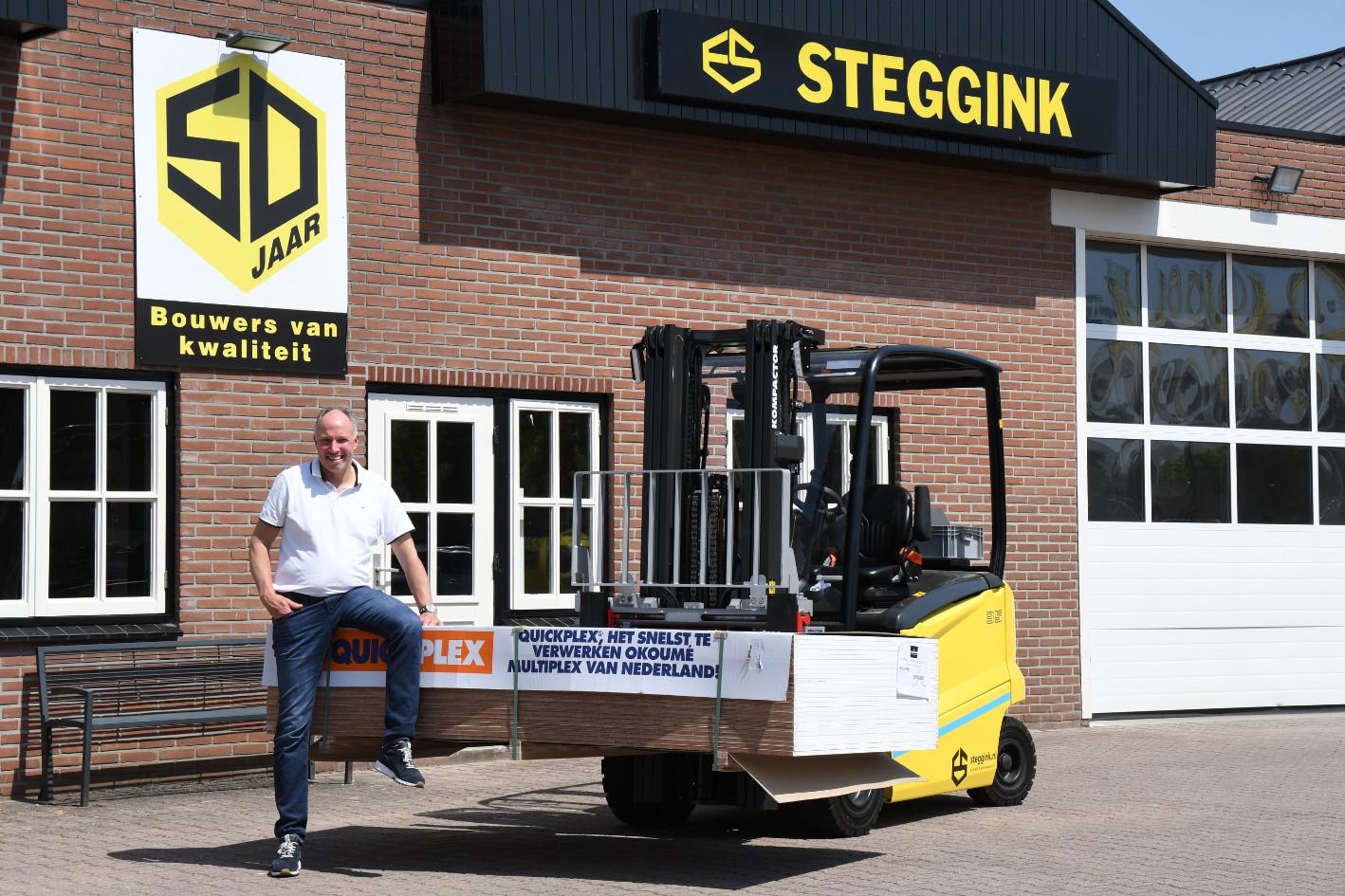 Edwald Steggink, eigenaar van het familiebedrijf Bouwbedrijf Steggink